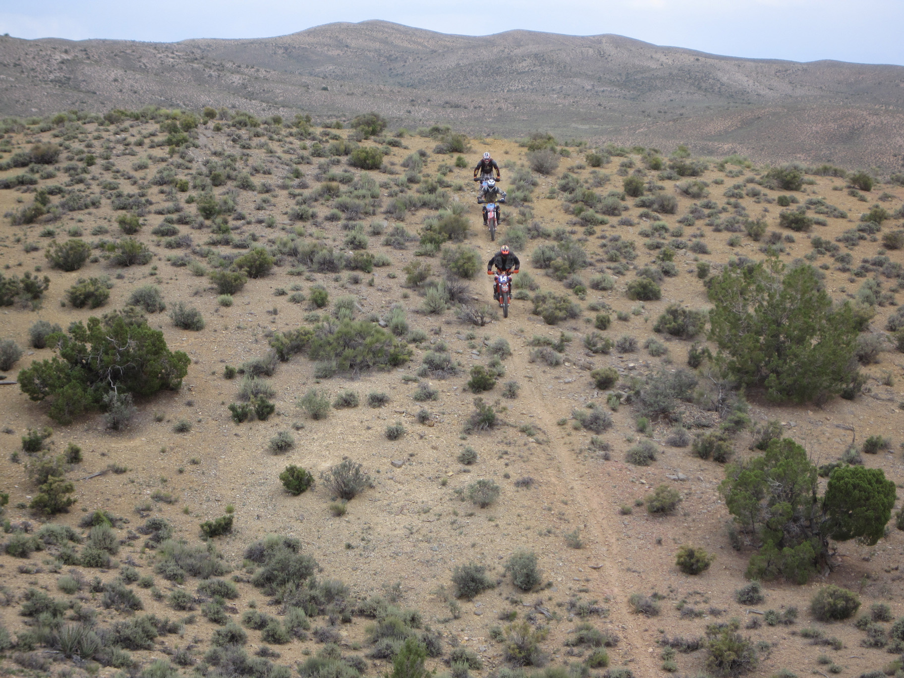 group single track ride